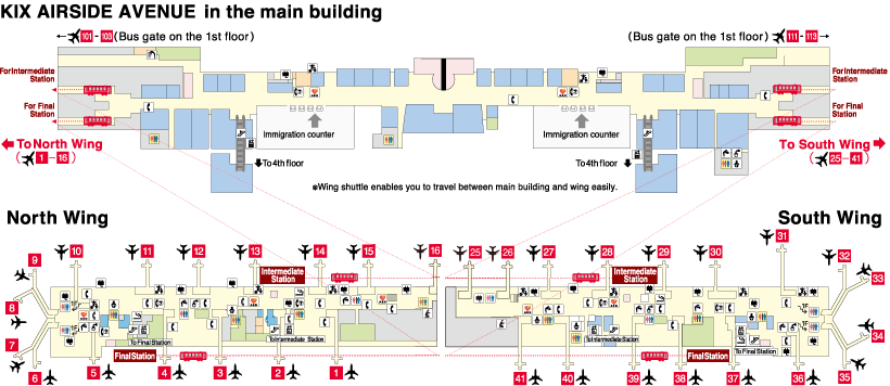 map of kansai airport Terminal 1 Building Kansai International Airport map of kansai airport