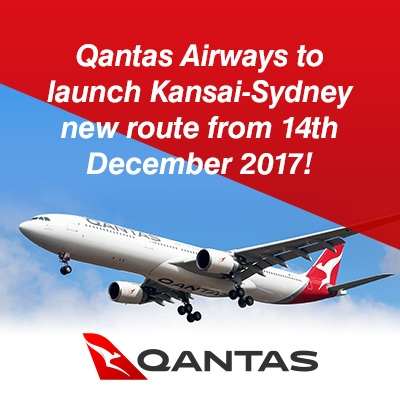Qantas Airways to launch Kansai-Sydney new route from 14th December 2017 !