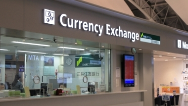 Banks atms currency exchange kansai international airport
